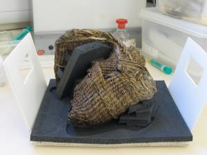 The wicker basket after conservation